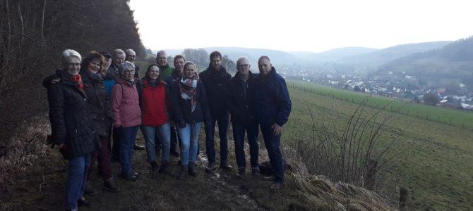 Winterwanderung rund um Ovenhausen 27.01.2018